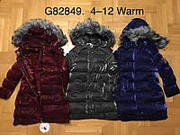 Куртка утепленная для девочек оптом, Grace, 4-12 лет,  № G82849