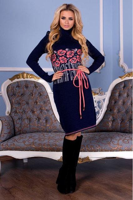 Вязаное платье БАМБУК р.44-50