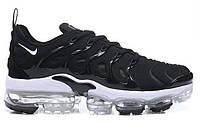 """Кроссовки Nike Air Vapormax Plus """"Black/White"""" - """"Черные Белые""""  (Копия ААА+)"""