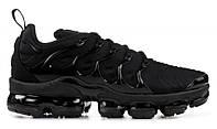 """Кроссовки Nike Air Vapormax Plus """"Black"""" - """"Черные""""  (Копия ААА+)"""