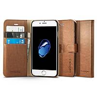 Книжка-Чехол Spigen для iPhone 8 / 7 Wallet S, Brown, фото 1