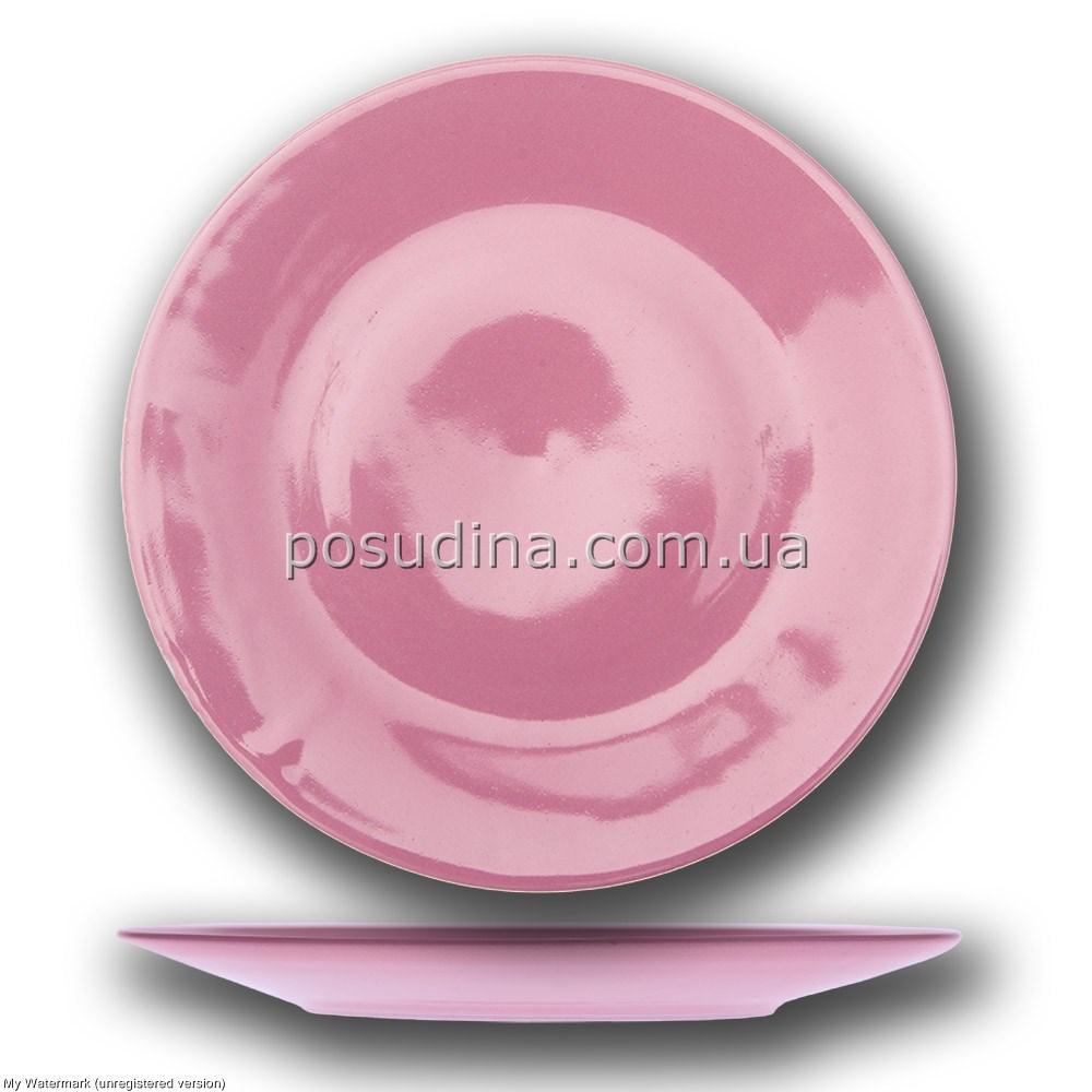 """Тарелка 230мм. """"Калифорния"""" Розовая Farn"""