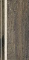 Paradyz Aveiro Brown Stopnica Prosta Nacinana Mat. 29.4x59.9
