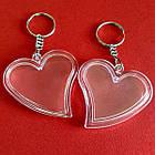 """Акрилові брелоки """"Серце"""", заготовки брелоків з кільцем та ланцюжком. Фото 47х47 мм, фото 7"""