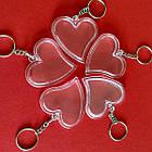 """Акрилові брелоки """"Серце"""", заготовки брелоків з кільцем та ланцюжком. Фото 47х47 мм, фото 2"""