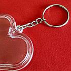 """Акрилові брелоки """"Серце"""", заготовки брелоків з кільцем та ланцюжком. Фото 47х47 мм, фото 8"""
