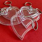 """Акрилові брелоки """"Серце"""", заготовки брелоків з кільцем та ланцюжком. Фото 47х47 мм, фото 4"""
