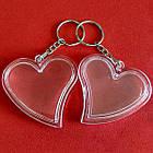 """Акрилові брелоки """"Серце"""", заготовки брелоків з кільцем та ланцюжком. Фото 47х47 мм, фото 5"""