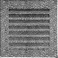 Каминная решетка FRESH черно-серебряная 17*17