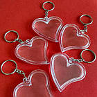 """Акрилові брелоки """"Серце"""", заготовки брелоків з кільцем та ланцюжком. Фото 47х47 мм, фото 9"""