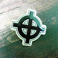 """Сувенирный значок-линза """"Кельтский крест"""", фото 1"""