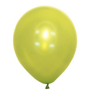 "Шар 12"" (30 см) Мексика металлик 036 APPLE GREEN (светло-салатовый)"