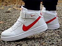Кроссовки 40,43 размеры  мужские Nike air force белые высокие М0080