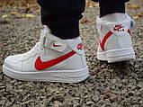 Кроссовки 40,43 размеры  мужские Nike air force белые высокие М0080, фото 3