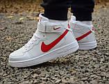 Кроссовки 40,43 размеры  мужские Nike air force белые высокие М0080, фото 4
