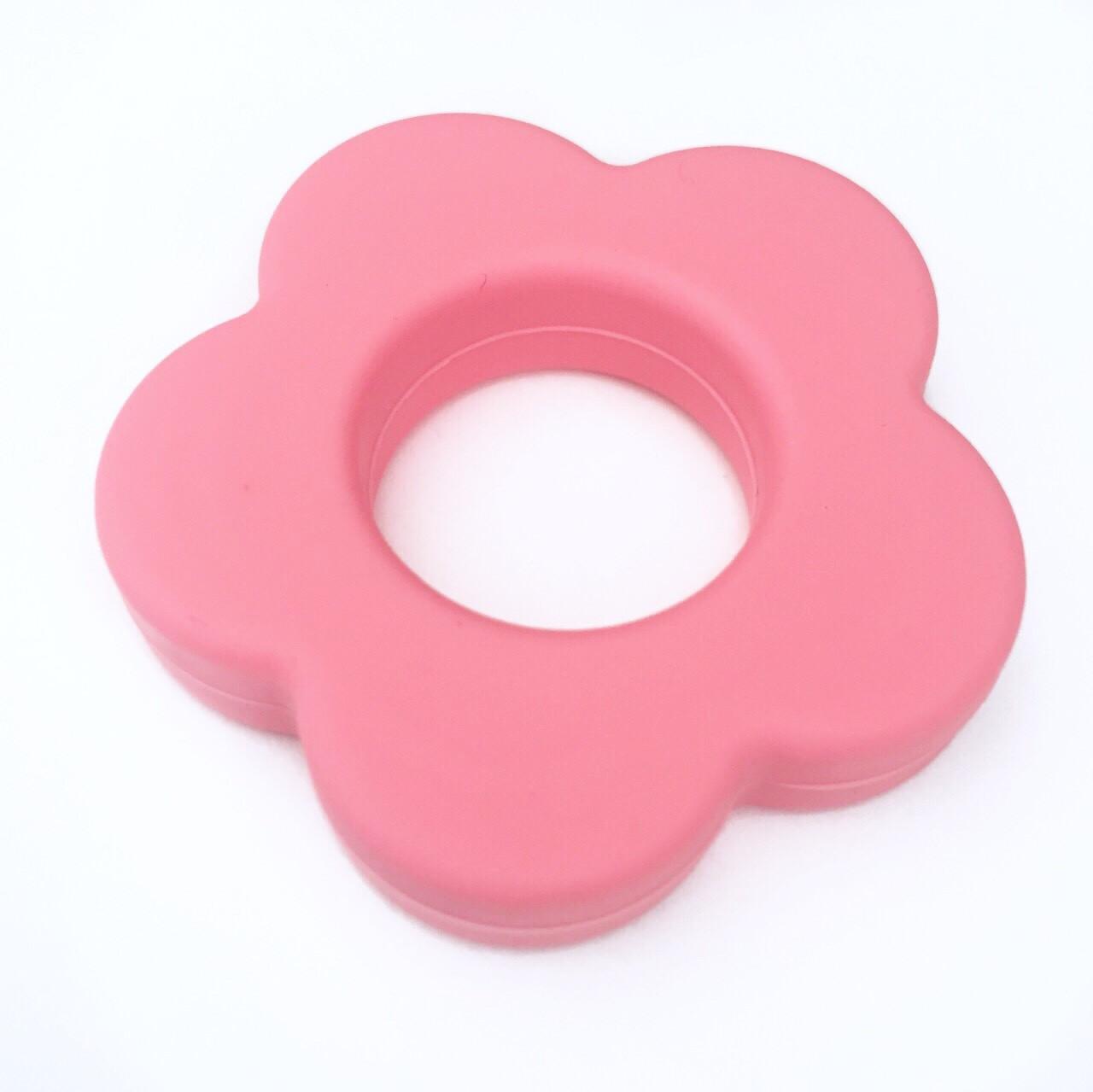 Колечко - Цветок (розовый) силиконовое