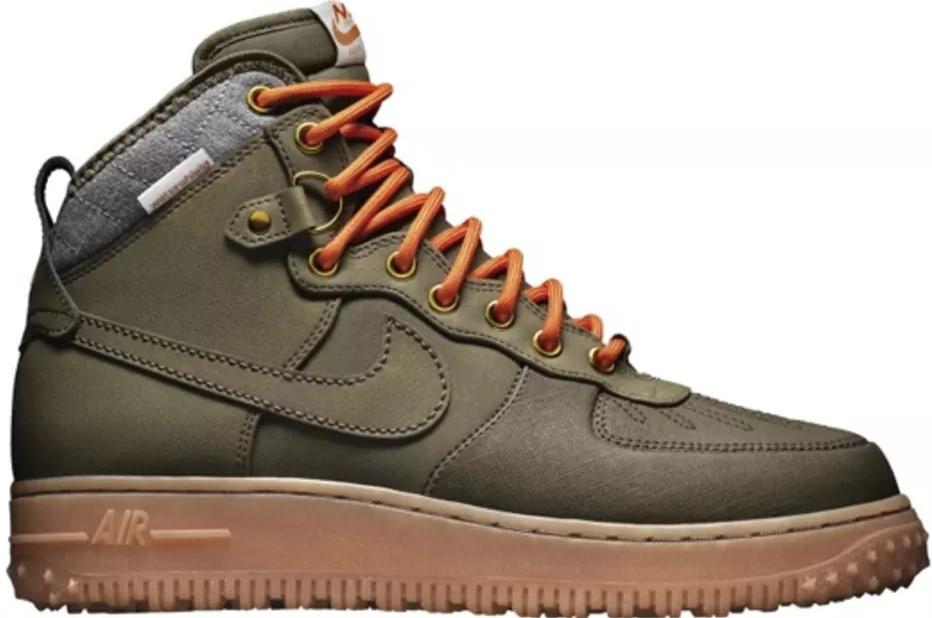 super popular 81342 98557 Мужские кроссовки Nike Air Force Duckboot Dark Loden (Найк Аир Форс дакбут,  хаки)