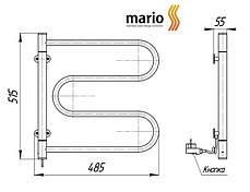 Полотенцесушитель электрический MARIO Лассо - I  515 x 485 поворотный, фото 3