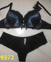Комплект женского нижнего белья с эффектом пу  ш ап Balaloum 9372 черный