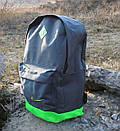 Модный рюкзак NIKE, Найк. Серый с салатовым., фото 4