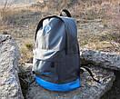 Стильный рюкзак NIKE (Найк). Серый с голубым., фото 4
