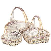Набор плетеных корзин (3 шт.), фото 1