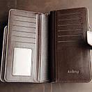 Стильный мужской кожаный клатч, кошелек. Коричневый. Baellerry Business. Балери, фото 4