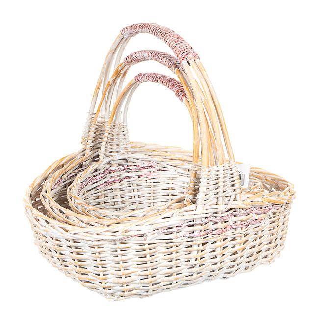 Набор плетеных корзин 3 шт.