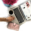 Женский кошелек, клатч Baellerry Forever, балери. Нежно-розовый (пудровый). Замша PU, фото 7