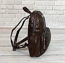 Стильный женский рюкзачок Philipp Plein. Коричневый, фото 3