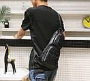 Сумка-рюкзак на одно плечо Черная, фото 5