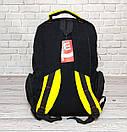 Вместительный рюкзак Wilson для школы, спорта. Черный с желтым., фото 5