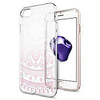 Чехол Spigen для iPhone 8 / 7 Liquid Crystal, Shine Pink, фото 1