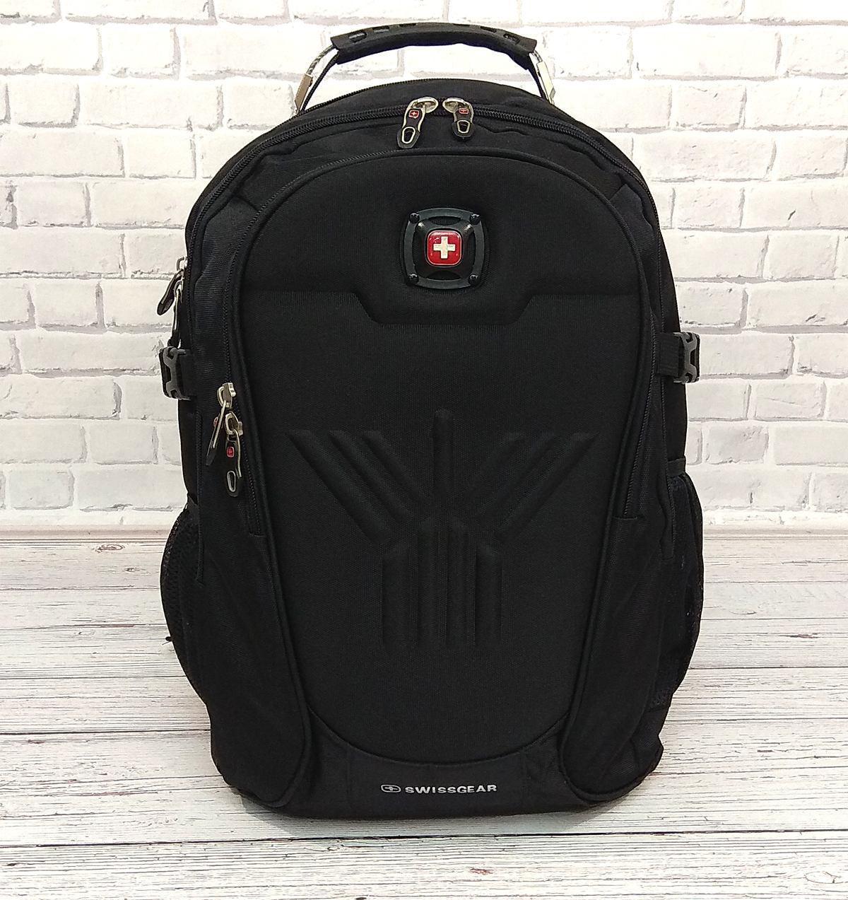 Місткий рюкзак SwissGear Wenger, свисгир. Чорний. + Дощовик. 35L / s8875 black
