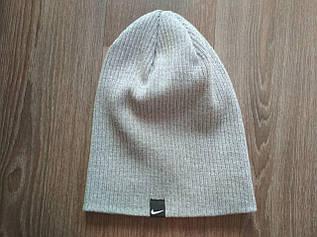 Классическая шапка ребристая вязка 333-94