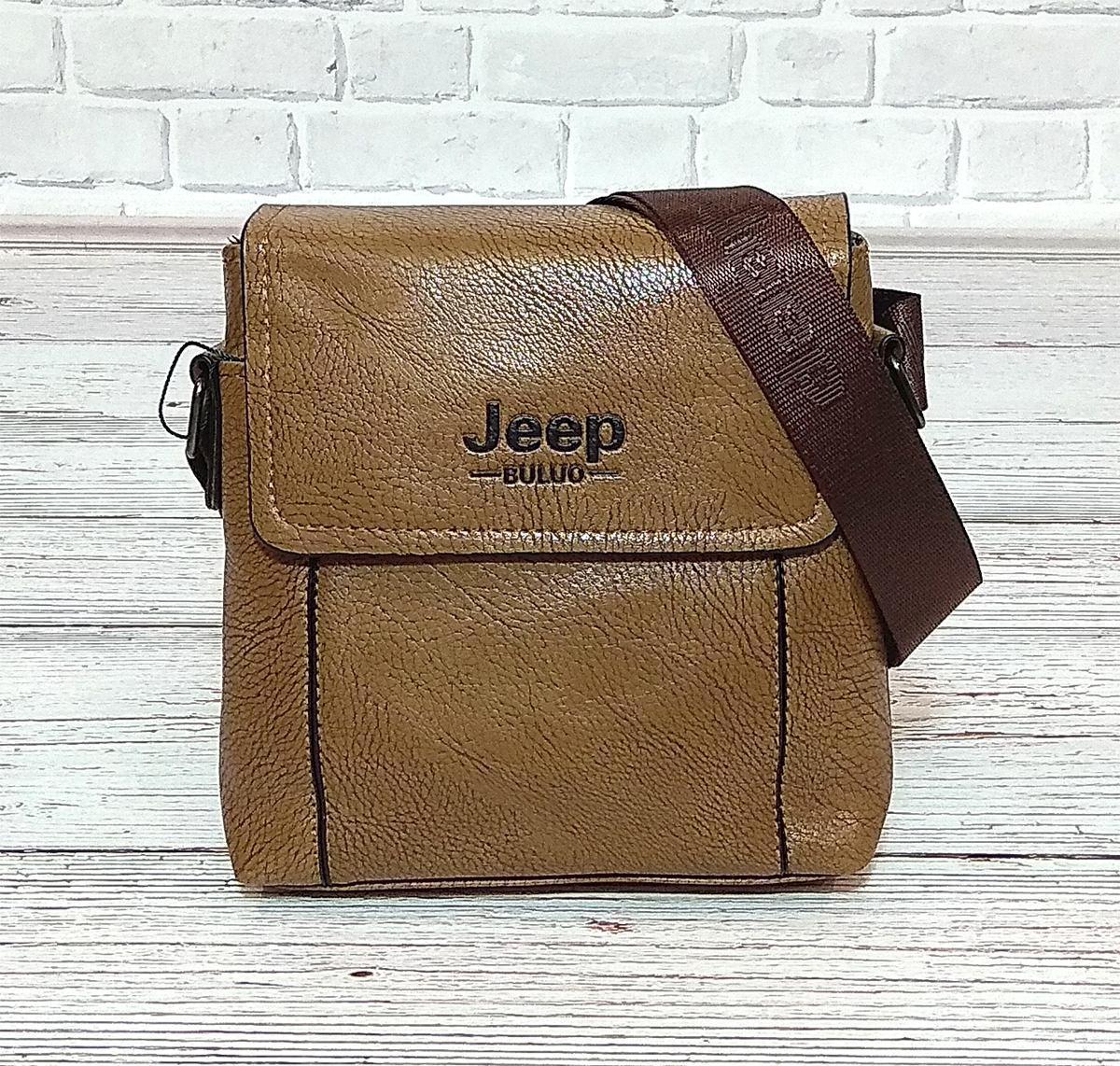 Мужская сумка через плечо Jeep. Коричневая. 21см х 19см / Кожа PU. 5541 brown