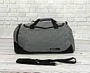 Спортивная сумка найк, Nike. Дорожная. Для тренировок. Серая с черным, фото 6