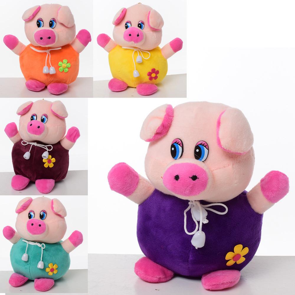 Мягкая игрушка MP 1701 (100шт) свинка, размер маленький, 14см, на прис
