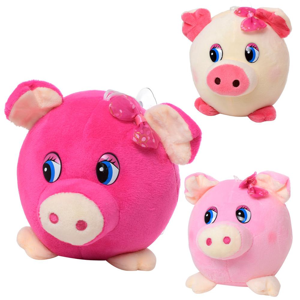 Мягкая игрушка MP 1702 (100шт) свинка, размер маленький, 14см, на прис