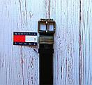 Мужской ремень из натуральной кожи Tommy Hilfiger. Черный, фото 2