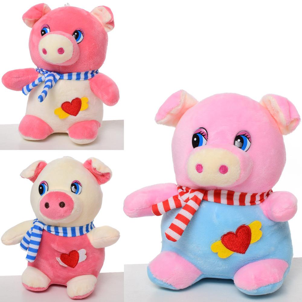 Мягкая игрушка MP 1715 (60шт) свинка, размер маленький, 16см, на присо