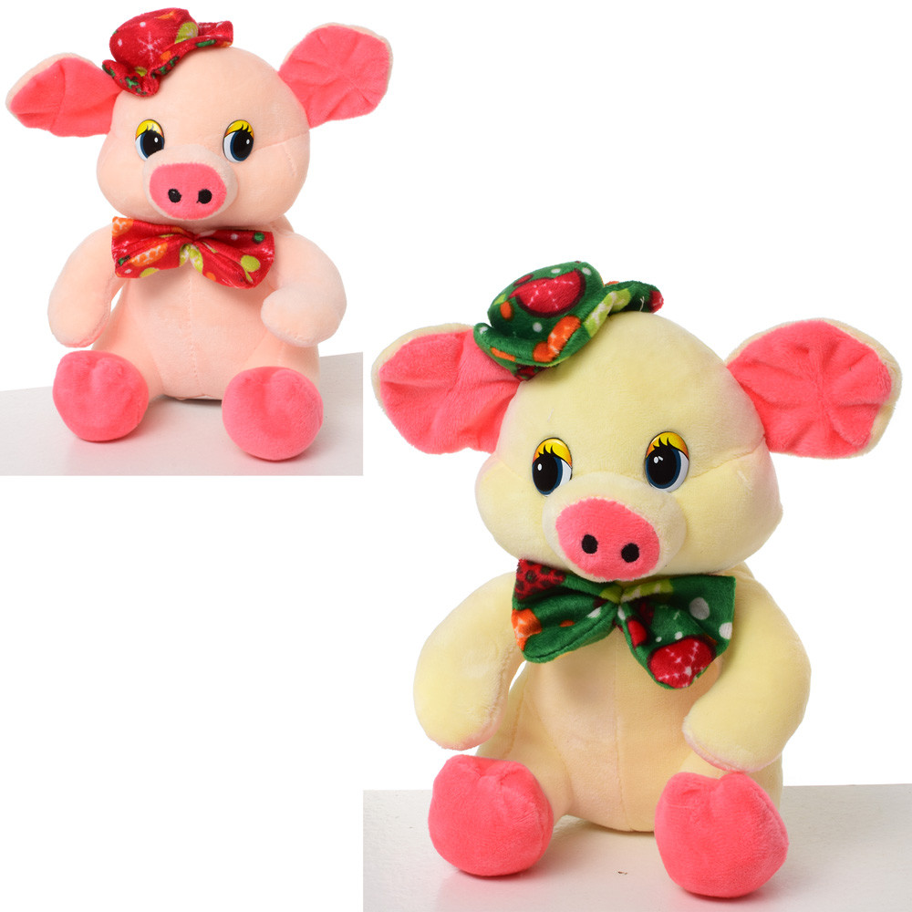 Мягкая игрушка MP 1731 (36шт) свинка, размер средний, 20см, 2цвета