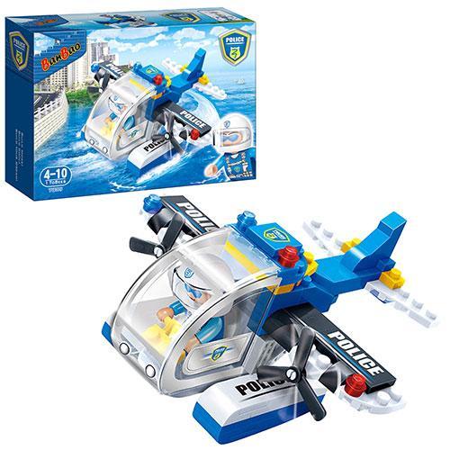Конструктор BANBAO 7009 (36шт) полиция, самолет, фигурка 1шт, 112дет,
