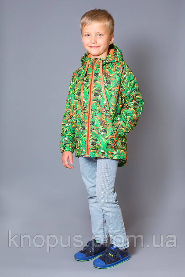 Куртка-ветровка на флисе детская, размер 110-134, Модный карапуз