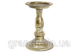 Декоративний металевий свічник 19.5 см