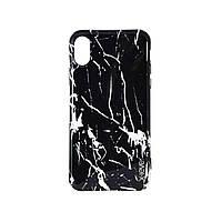 Чехол-накладка X-Level Marble для iPhone X Black