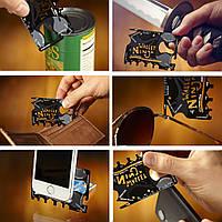Мультитул-кредитка Ninja Wallet 18 в 1 (из закаленной стали)