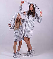 Теплый халат для девочки 64 размер (1-4 года)