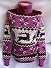 Свитер - туника женский под горло олени (44/50 универсал) (цвет сирень) СП