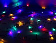 Внутренняя Гирлянда светодиодная нить, 100 led  черный провод - цвет разноцветный